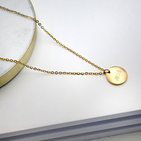 Custom Initial Plate Necklace