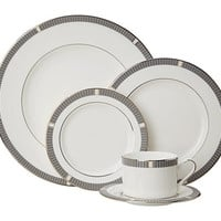 Lenox Silver Sophisticate 5 Piece White/Silver - Zappos.com Free Shipping BOTH Ways