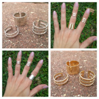 Layering Midi Rings - Set of 3 Gold Or Silver