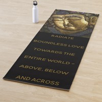 Buddha Portrait and Quote Radiate Boundless Love Yoga Mat