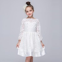 Girl Dresses 2 3 4 5 6 7 8 9 10 11 12 13 Years White Girl Party Dress Spring Kids Clothes Costume Princess Dress