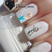 Frozen the Movie Nail Decals Olaf Elsa