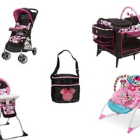 Disney - Minnie Mouse Dotty Baby Gear Bundle Collection Set