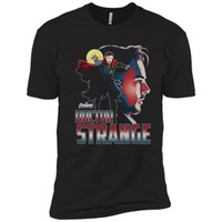 Marvel Infinity War Dr. Strange Head Profile Premium T-Shirt