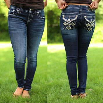 French Cross Skinny Jeans by Miss Me