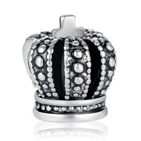 High Quality Silver Plated Royal Crown Charm Fit Pandora Bracelet Necklace Pendant Original Jewelry Accessories A5285