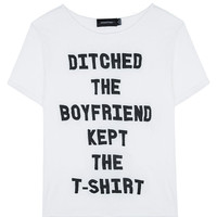 Ditch The Boyfriend Tee White by Mink Pink | WEST L.A. Boutique