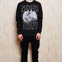 Blood Brother Moon Applique Logo Sweater at Urban Outfitters
