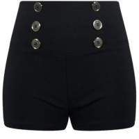 Women's High Waisted Retro Shorts