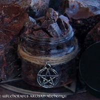 DRAGON'S BLOOD Premium Gold Seal Resin for Power Casting, Potency, Banishing, Protection, Victory, Vitality, Love - 1/2 oz Pentacle Jar