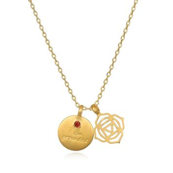 I am Grounded, Root Chakra Necklace