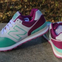 Women Men Casual Running NEW BALANCE Sport Shoes Sneakers Purple