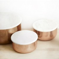 Small Copper Bowl With Marble Lid Designed By Mette Hagedorn - home décor - HOUSE & HOME