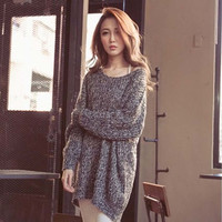 Autumn winter women sweaters pullovers korean style long sleeve casual crop sweater slim solid knitted jumpers sweater RAW4269