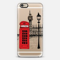 LONDON CALLING iPhone 6 case by Katie Reed | Casetify