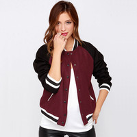 Sports On Sale Hot Deal Jacket Casual Patchwork Long Sleeve Baseball Coat [9108984199]