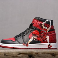 Air Jordan 1 Retro High OG Banned With Hanamichi Sakuragi Print - Best Online Sale