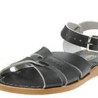 Women's Black Saltwater Sandals