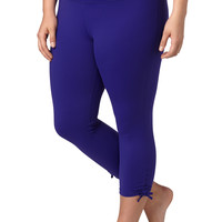 Plus Size - Performance Fabric Capri - Sapphire Dream