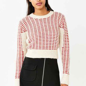 Cooperative Honey Mixed Stitch Pullover Sweater