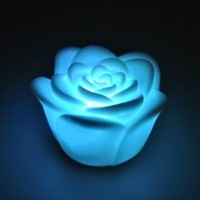 niceEshop Romantic 7 Color Changing LED Floating Rose Flower Candle Night Light Decoration Light