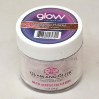 Glam and Glits GLOW ACRYLIC Glow in the Dark Dip Powder 2045 Scattered Embers
