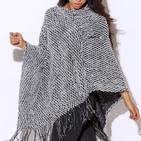 Knit Poncho (Multiple Colors Available)