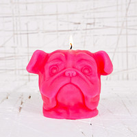 Pug Candle in Pink - Urban Outfitters