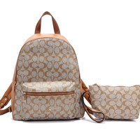 Coach Lady Fashion Casual Wild Large Capacity Travel Bag Backpack  4#