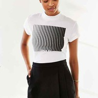 Truly Madly Deeply Mod Art Fitted Cropped Top