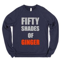 Fifty Shades of Ginger Navy Crew Neck Sweater-Navy Sweatshirt
