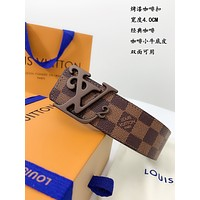 lv louis vuitton womens mens fashion smooth buckle belt leather belt monogram leather belt 32