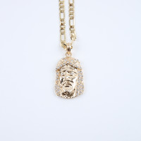 The Jesus Piece Chain Necklace in Gold