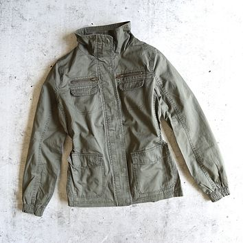 Utility Parka Jacket in Olive Green