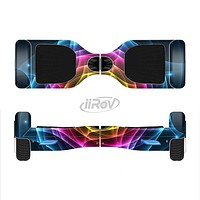 The Rainbow Neon Translucent Vortex Full-Body Skin Set for the Smart Drifting SuperCharged iiRov HoverBoard