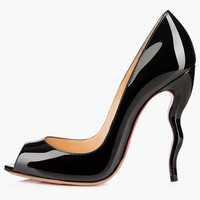Special-Shaped Heel Patent PU Pointy Toe Heels