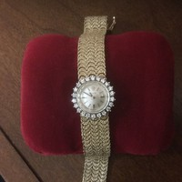 14K Gold Ladies Vintage Rolex Cocktail Watch With Diamonds