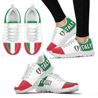 Italian Flag Pride Womens Custom Printed Sneakers