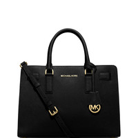 Michael Michael Kors Dillon East-West Saffiano Satchel Bag, Black LAVELIQ