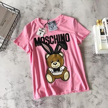 """Moschino"" Cute Playboy Bear T-shirt 