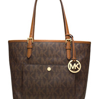 Michael Michael Kors Jet Set Snap Pocket Tote Bag