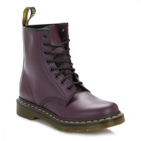 Dr. Martens Womens Purple 1460 Leather Boots