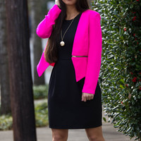 The Perfect Blazer-Hot Pink