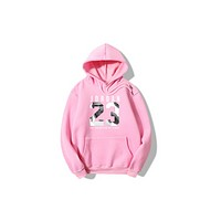 JORDAN 23 men casual cotton fleece hooded sets of sweater movement long sleeve Wei pink