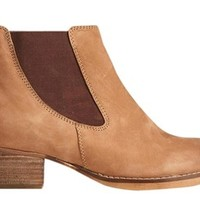 ASOS Aftershock Chelsea Leather Ankle / Us 6 Tan Boots 32% off retail