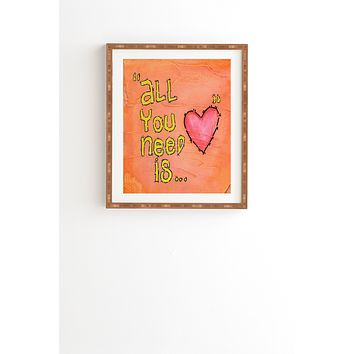 Isa Zapata All You Need Is Love Framed Wall Art