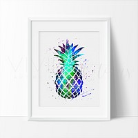 Pineapple 2.0 Watercolor Art Print