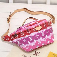 Louis Vuitton LV Fashion Leather Chest Bag Crossbody Single Shoulder Bag Satchel