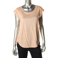 Marc by Marc Jacobs Womens Linen Oversized Casual Top