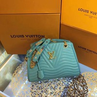 DCCK2 L035 Louis Vuitton LV Corrugated handbag 32-22-13cm Blue